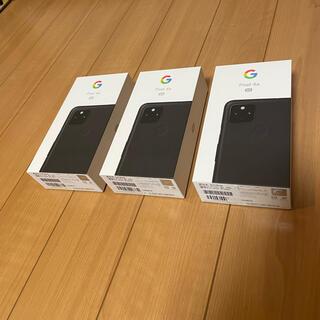 Google Pixel - 新品未使用 Google pixel 4a 5g ブラック 3台