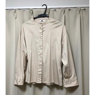 UNIQLO - UNIQLO U マーセライズコットンスタンドカラーシャツ
