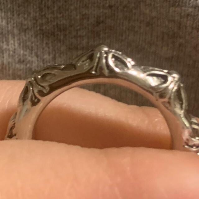 Lochie(ロキエ)の指輪 リング 13号 ヴィンテージ アンティーク レトロ 花 シルバーカラー レディースのアクセサリー(リング(指輪))の商品写真