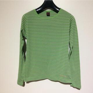 モンベル(mont bell)の【mont-bell】ブリーズスパンボーダーロングスリーブT S モンベル(Tシャツ(長袖/七分))