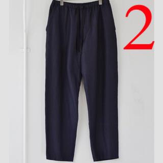COMOLI - 新品■21AW COMOLI ウールシルク ドローストリングパンツ 2 ネイビー