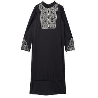 Ameri VINTAGE - ameri ELFIN EMBROIDERY CAFTAN DRESS
