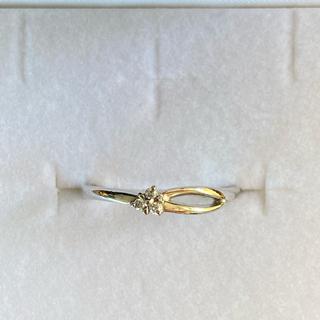 ヨンドシー(4℃)のK10 ホワイトゴールドダイヤモンドリング(リング(指輪))