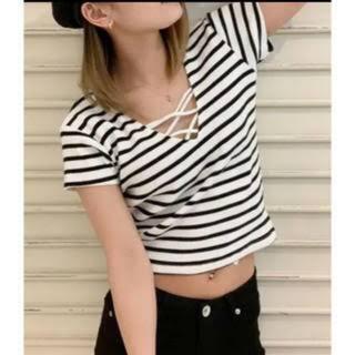 ジェイダ(GYDA)のジェイダ 2wayバインダーTシャツ トップス ボーダー(Tシャツ(半袖/袖なし))