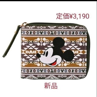 Disney - ★DISNEY STORE 定価¥3,190 オルテガ柄  ウォレット 折り財布