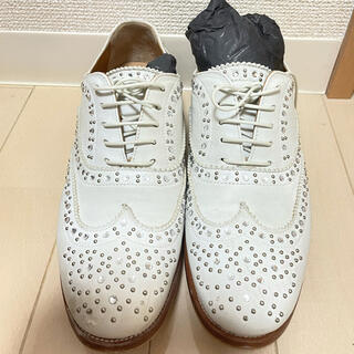 チャーチ(Church's)のchurch's ホワイト バーウッド スタッズ 37 24cm(ローファー/革靴)