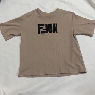 フェンディ(FENDI)のFENDI半袖TシャツロゴFFUN6Aベージュ110くらい(Tシャツ/カットソー)