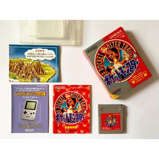 ゲームボーイ(ゲームボーイ)のゲームボーイ ポケモン 赤 ポケットモンスター GB GameBoy Red(携帯用ゲームソフト)