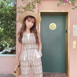 エイミーイストワール(eimy istoire)のeimy♡ チェックペプラムトップススプリング(シャツ/ブラウス(半袖/袖なし))