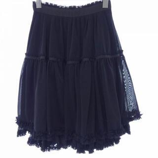 フォクシー(FOXEY)のフォクシーニューヨーク FOXEY NEW YORK スカート38透け感ブラック(ひざ丈スカート)