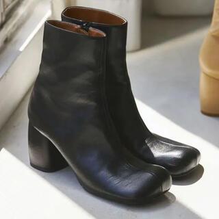 トゥデイフル(TODAYFUL)の新品未使用 todayful スクエアショートブーツ 36サイズ(ブーツ)