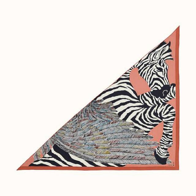 Hermes(エルメス)の【新品未使用】エルメス トライアングルジェアン ピンク ゼブラペガサス レディースのファッション小物(バンダナ/スカーフ)の商品写真