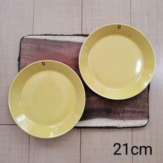 イッタラ(iittala)のイッタラ ティーマ プレート ハニー 21cm 2点セット 新品(食器)