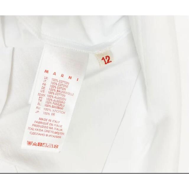 Marni(マルニ)の【新作】MARNI ロゴTシャツ ホワイト 12 レディースのトップス(Tシャツ(半袖/袖なし))の商品写真
