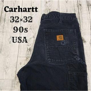 カーハート(carhartt)の90s カーハート 32×32 ペインターパンツ ネイビー(青)アメリカコットン(ワークパンツ/カーゴパンツ)