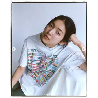 在原みゆ紀着用|90sヴィンテージ Flags/World Tシャツ [XL]