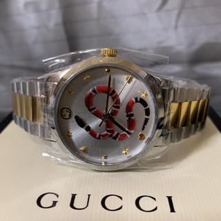 Gucci - 新品 グッチ 時計 スネークデザイン スチールウォッチ Gタイムレス 最終価格