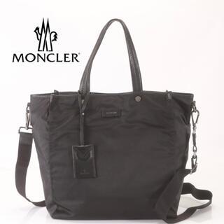 モンクレール(MONCLER)のMONCLER レザー×ナイロン 2way ショルダーバッグ トートバッグ(ショルダーバッグ)