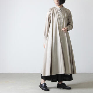 ネストローブ(nest Robe)のmizuiro ind/ミズイロインド【フレアロング シャツワン ピース】羽織り(その他)