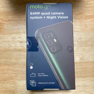 モトローラ(Motorola)のmotorola moto g30 ダークパール SIMフリー(スマートフォン本体)