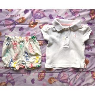 ポロラルフローレン(POLO RALPH LAUREN)のベビー服 セットアップ ポロシャツ ショートパンツ(シャツ/カットソー)