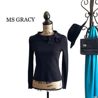 エムズグレイシー(M'S GRACY)のMS GRACY エムズグレイシー セーター ニット ブラック レディース(ニット/セーター)