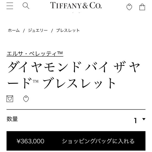 Tiffany & Co.(ティファニー)のティファニー PT バイザヤード 6D ブレスレット レディースのアクセサリー(ブレスレット/バングル)の商品写真
