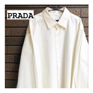 プラダ(PRADA)の《PRADA 》プラダ ストライプ シャツ ビジネスシャツ イタリア製(シャツ)