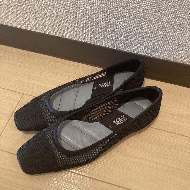 ZARA(ザラ)のZARA メッシュフラットシューズ レディースの靴/シューズ(バレエシューズ)の商品写真