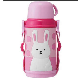 ドウシシャ - ドウシシャ 水筒 2way子供水筒 キッズ水筒 ウサギ