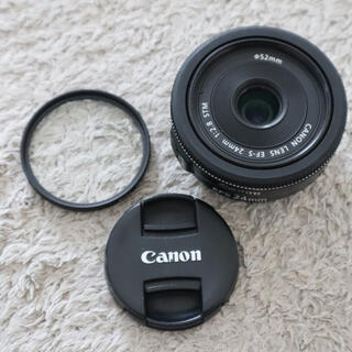 Canon - canon EF-S 24mm F2.8 STM プロテクター付き