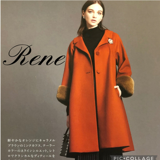ルネ(René)のRene2019ルネ受注会ミンク袖Aラインコート34(36)コペンハーゲンファー(ロングコート)