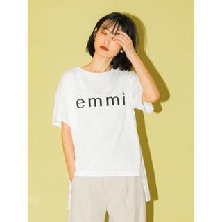 emmi atelier - emmi ロゴECO Tシャツ