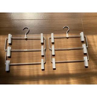 ムジルシリョウヒン(MUJI (無印良品))のアルミハンガー・パンツ/スカート用 3段(押し入れ収納/ハンガー)