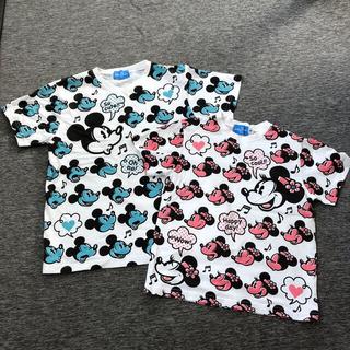 Disney - ディズニーTシャツ2枚セット 150.130㎝
