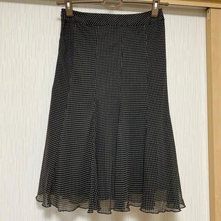 ストロベリーフィールズ(STRAWBERRY-FIELDS)のストロベリーフィールズ ドット柄シフォンスカート(ひざ丈スカート)