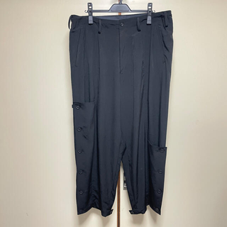 Yohji Yamamoto - 21SS ヨウジヤマモトプールオム 2way ワイドパンツ 黒 イージーパンツ