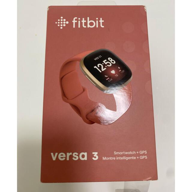 fitfit(フィットフィット)のfitbit versa3 お値下げしました! スポーツ/アウトドアのトレーニング/エクササイズ(その他)の商品写真