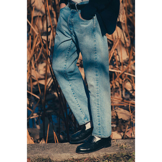 COMOLI - A PRESSE Washed Denim Pants 34