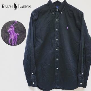 ポロラルフローレン(POLO RALPH LAUREN)のラルフローレン カスタムフィット ボタンダウンシャツ ロゴ刺繍 ポニー サイズL(シャツ)