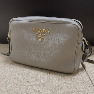 PRADA - プラダ PRADA ショルダーバッグ レザー 本革 グレージュ 1BH082