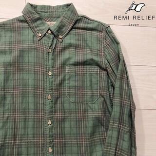 レミレリーフ(REMI RELIEF)のREMI RELIEF 長袖 ボタンダウン チェック シャツ レミレリーフ S(シャツ)