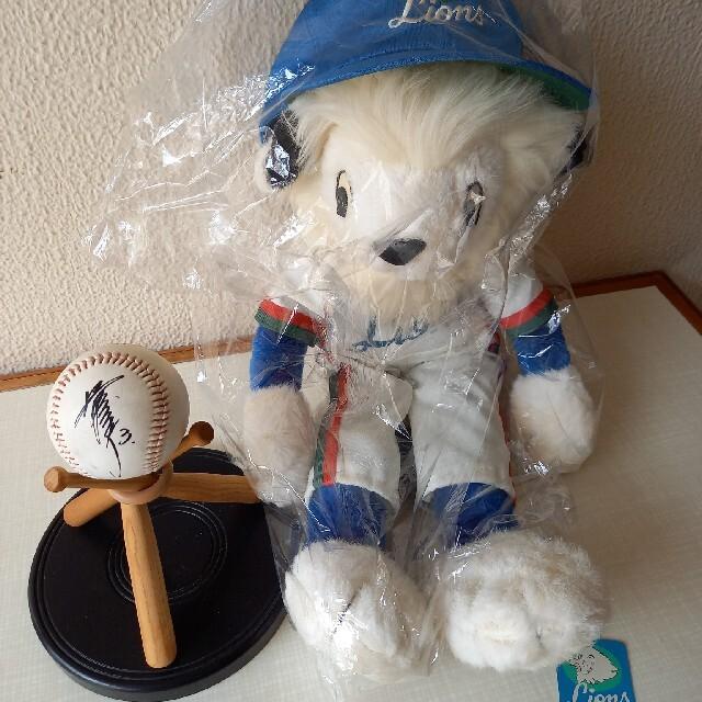 ライオンズ【レオ】ぬいぐるみ&清原選手のサインボールのおまけ付き スポーツ/アウトドアの野球(応援グッズ)の商品写真