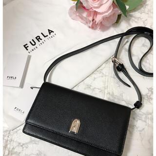 Furla - フルラ  FURLA furla ショルダーバッグ 黒 レザー 新品未使用