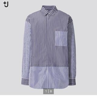 UNIQLO - ユニクロ +J スーピマコットンオーバーサイズシャツ マルチストライプ