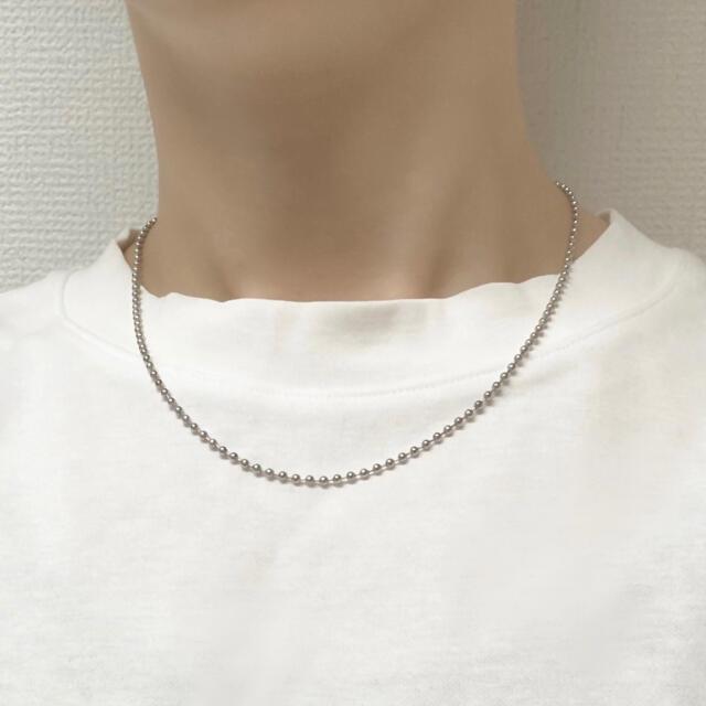 ステンレス ポールチェーン ネックレス メンズのアクセサリー(ネックレス)の商品写真