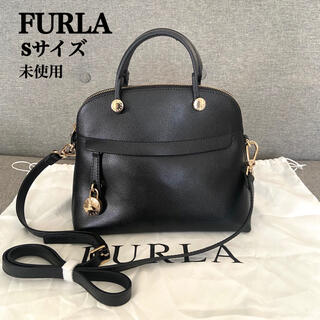 フルラ(Furla)の【美品】 FURLA パイパー Sサイズ 2way ブラック ショルダー(ハンドバッグ)