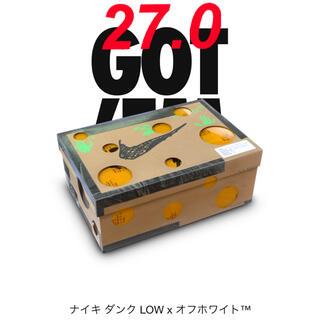 """ナイキ(NIKE)のOff-White×NIKE DUNK LOW 1of50 """"19"""" 27.0(スニーカー)"""