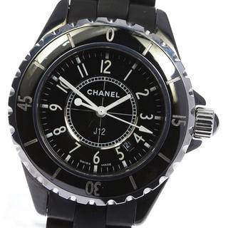 シャネル(CHANEL)のシャネル J12 黒セラミック デイト H0681 レディース 【中古】(腕時計)