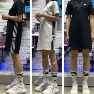 adidas - アディダス ワンピ 黒のみ なんとお値下げ!